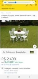Grande oportunidade de ter um conjunto  mesa e cinco cadeiras de alumínio em sua casa.