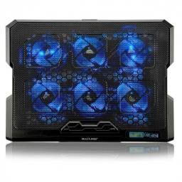 Título do anúncio: cooler para notebook com 6 fans e led azul