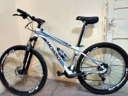 Bicicleta Aro 29 Alumínio Mosso 7005 T6 DB XC 27v Freio Hidráulico Branca