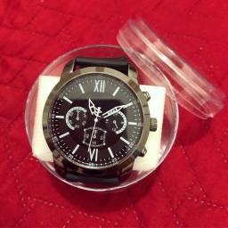 Relógio de luxo masculino Quartz.