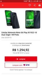 Smartphone moto g6 play usado