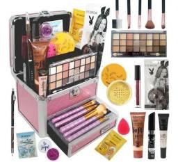 Maleta De Maquiagem Com Kit De Maquiagem