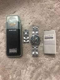 Relógio Swatch Irony Chrono Pulseira em Ação