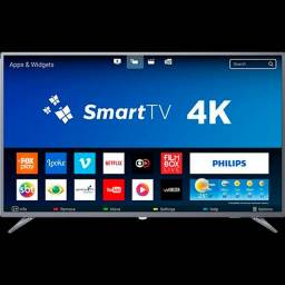 Smart TV LED 50 Polegadas Philips 50PUG6513 4K Netflix 2 USB 3 HDMI<br><br>