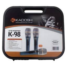 Kit Microfone Kadosh C/ 3 Unidades K98