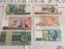 Notas antigas - Dinheiro