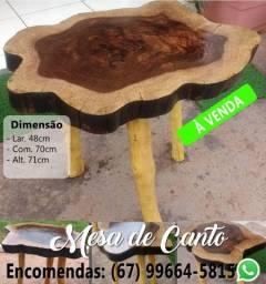 Mesas de bolacha de madeira