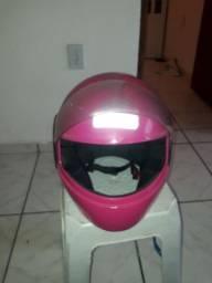 capacete rosa tamanho 60