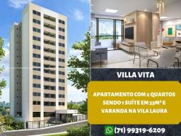 Villa Vita, 2 quartos, suíte em 53m² e varanda na Vila Laura