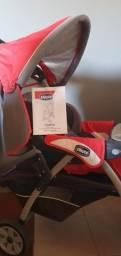 Carrinho de Bebê e Bebê Conforto marca Chicco c/ equipamento para carro Keyfit30 Isofix