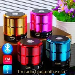 Título do anúncio: Mini Caixinha De Som Usb Bluetooth Fm Radio