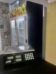 Expositora vertical - geladeira e balança toledo