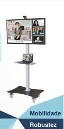 Suporte móvel para TV, Notebooks e Web Cam.