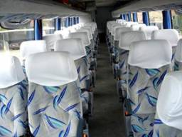 Bancos completos de ônibus