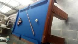 Mesa Madeira de Redinha | Mesa Imbuia | Tecido Azul | Modelo: OWKB3017
