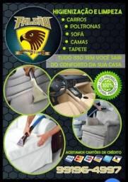 Limpeza e higienização a seco em domicílio