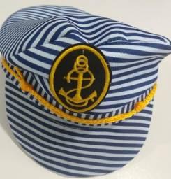 Chapeu marinheiro em tecido, tamanho unico