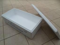 Caixa Isopor Retangular Com Tampa 80 Litros 90cm X 40cm X 25cm