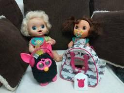 Bonecas Baby Alive e Furby