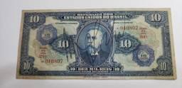 Vendo Nota de 10 mil rés rara de 1942 autografada e com carimbo