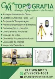 Topografia/Projetos/Licença Ambiental/planta situação/Loteamento