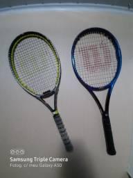 Vendi duas raquetes por uma profissional e a outra semi-profissional