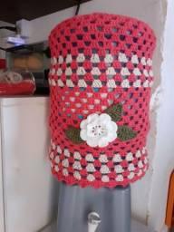 Capa em crochê  para garrafão de água