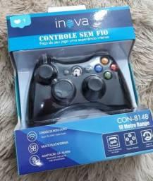 CONTROLE XBOX SEM FIO - PRETO - CON-8148 - INOVA
