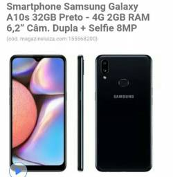 Samsung Galaxy A10s preto , novo novos na caixa,  vendido e entregue pelo magazine Luiza.