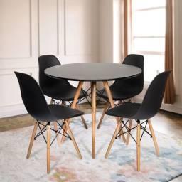 Liquida Fecha Mês!Jogo de Mesa estilo.eiffell + 4 cadeiras!!