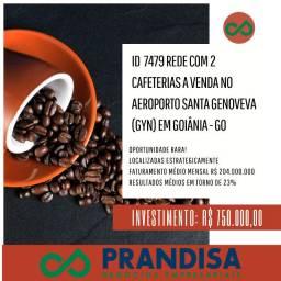 7479 Cafeterias, duas unidades, a venda no Aeroporto de Goiânia Goiás - Santa Genoveva Gyn