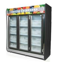 Expositor Polar refrigerado 3 portas para hortifrúti Novo Frete Grátis