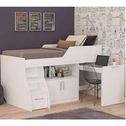 Cama Multifunção R366 com escrivaninha, 2 gavetões 1,66 x 1,93