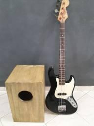 Kit Cajon + Baixo Eagle modelo jazz bass