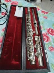 Flauta transversal Yamaha 351 profissional prata