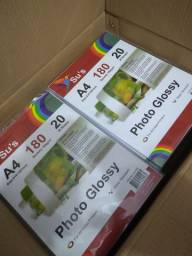 Papel Fotográficos Glossy 180 gr SUS