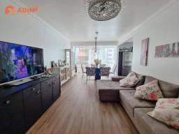 Apartamento a venda no edifício Dr. Blumenau, na quadra do mar, 3 quartos, 1 vaga, mobilia