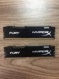 Memoria Kingston DDR4 HyperX Fury 8GB (2x4) 2133MHz Black, HX421C14FBK2/8