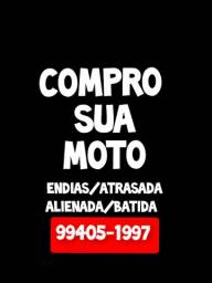 Título do anúncio: Compr@ moto endias atrasada alienada batida c/defeito