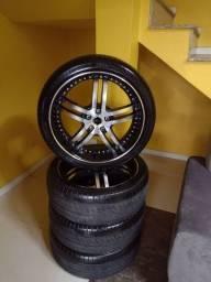 Rodas aro 20 com pneus zeradas
