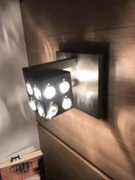 02 luminárias de parede para cabeceira