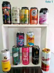 Coleção latas e garrafas de CERVEJA