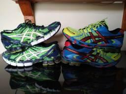 2 Tênis Asics (Modelos: Gel-Sendai e Gel-Sendai 2)