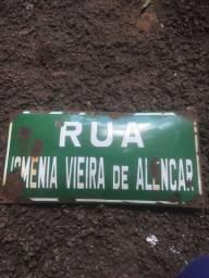 Placa de rua de Curitiba antiga porcelana