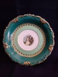 Prato porcelana Real  pintado por Jonh Peters