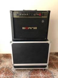 Amplificador Cubo Borne Vorax 12100 Com CASE