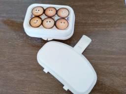 Porta ovos + omeleteira para micro-ondas