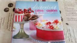 Livro de Receitas cakes e cookies e decoração de doces