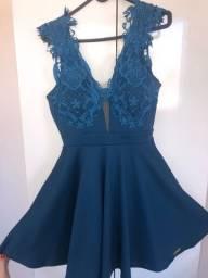 Vestido rodado azul
