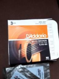 2 Encordoamento D'Addario 0.10 por 80 reais